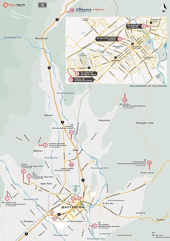 Wairarapa Garden Tour Map 2021